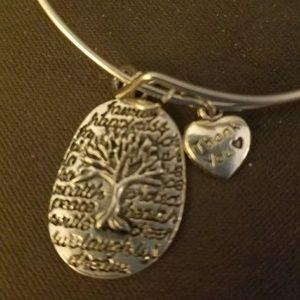 Jewelry - Silver Tone Bangle Charm Bracelet